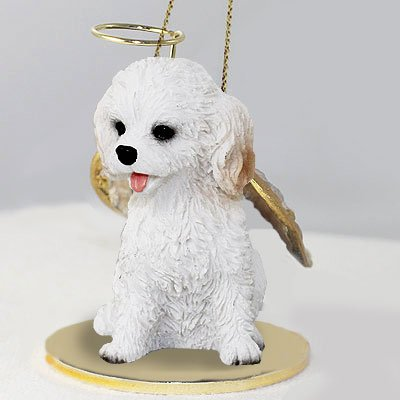 Cockapoo White Pet Angel Ornament (Set of 3)