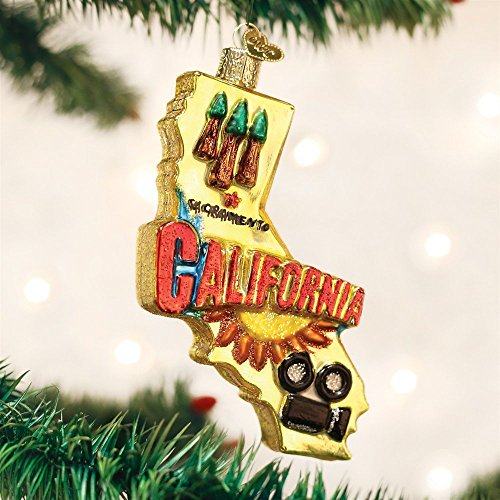 Old World Christmas State Of California Glass Blown Ornament