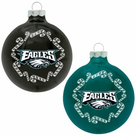 The Grill Topper 102-PHIEAG NFL – Home and Away Glass Ornament Set, Philadelphia Eagles
