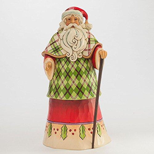 Enesco Jim Shore Santa in Plaid Robe