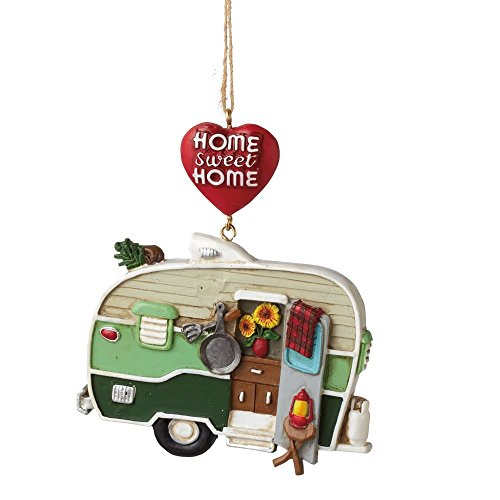 """4″ Multi-Color """"Home Sweet Home"""" Hanging Camper Christmas Ornament"""