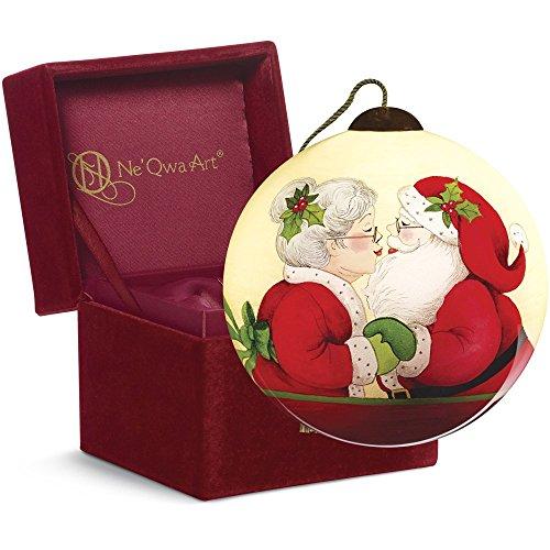Ne'Qwa Art Christmas Gift, Susan Winget Merry Kissmas, Glass, 7161149