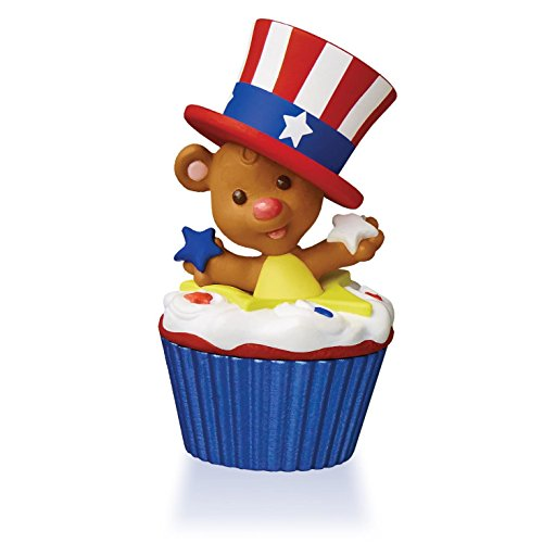Star-Spangled Bear Keepsake Cupcake Ornament 2015 Hallmark