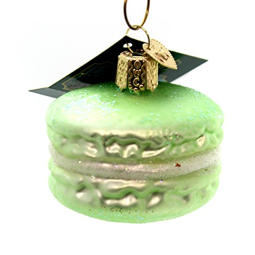 Old World Christmas MACARON Glass Ornament French Pastry 32242 Green