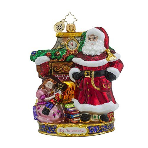 Christopher Radko My Beautiful Nutcracker Santa Glass Christmas Ornament – Nutcracker Series – New for 2016 – 7″h.