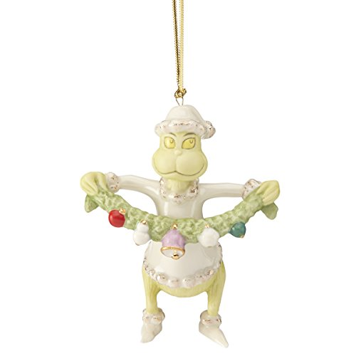 Lenox Grinch Stealing The Garland Ornament