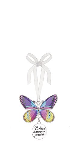 Ganz Home Decor Christmas / Spring Blissful Journey Butterfly Ornament (Believe all things are possible EA13537)
