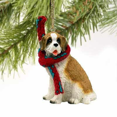 Saint Bernard Miniature Dog Ornament
