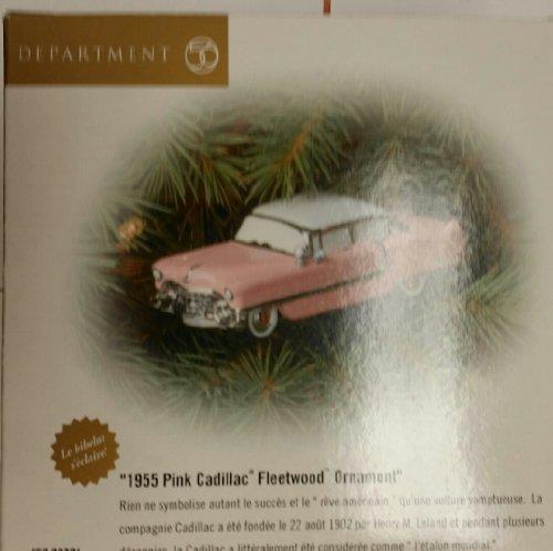 """""""1955 Pink Cadillac Ornament"""" Fleetwood Ornament (Department 56, 2000) New"""
