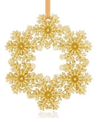 Holiday Lane Snowflake Wreath Ornament