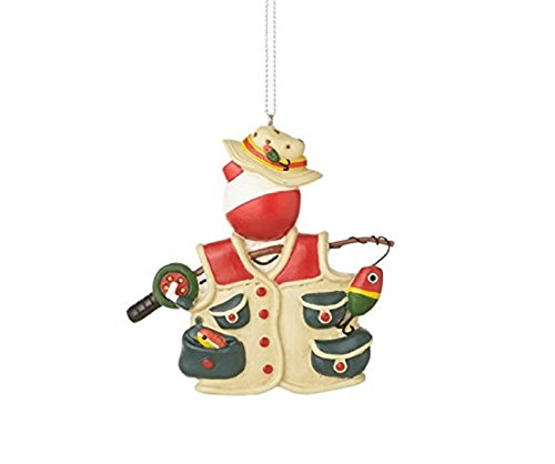 Bobber with Vest and Hat Fishing Christmas Ornament