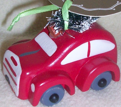 Woodland Holiday, Novelty Ornament, Red Car, Tree Decor
