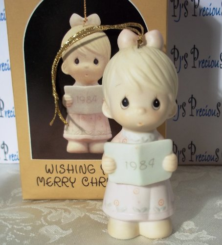 Precious Moments Ornament Wishing You a Merry Christmas