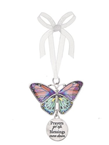 Prayers Go Up Blessings Come Down Metal Butterfly Ornament – By Ganz