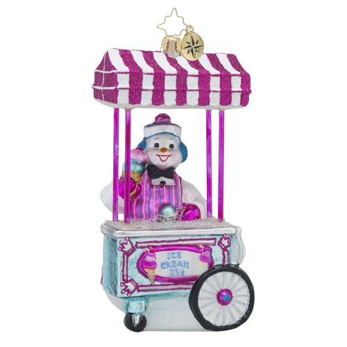 Christopher Radko Gelato for All Food & Drink Snowman and Transportation Christmas Ornament