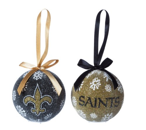 New Orleans Saints Official NFL LED Box Set Ornaments by Evergreen Enterprises
