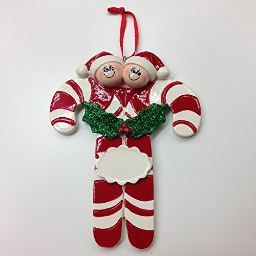 Candy Cane Family of Two Ornament
