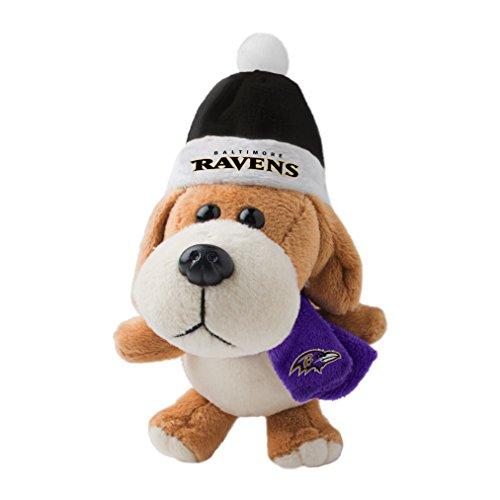 NFL Baltimore Ravens Plush Dog Ornament, 3″, Brown