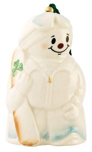 Belleek 4034 Snowboarding Snowman  Ornament