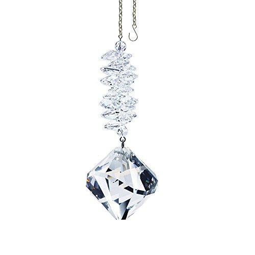 Swarovski Crystal Ornament Cascade, Clear Ball Form Prism, Amazing Rainbow Maker Crystal Cascade Suncatcher Adorned with Swarovski Crystal with Certificate