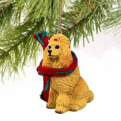 Poodle Miniature Dog Ornament – Apricot