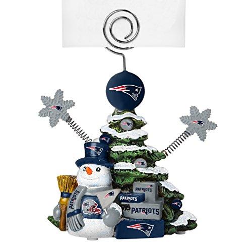NFL New England Patriots Tree Photo Holder, Green, 5″ Tall