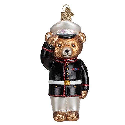 Old World Christmas Marine Bear Glass Blown Ornament