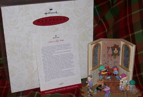 1996 HALLMARK DECORATION SANTA'S TOY SHOP Limited edition Artist appearance event