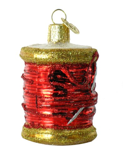 Old World Christmas Spool Of Thread Glass Blown Ornament