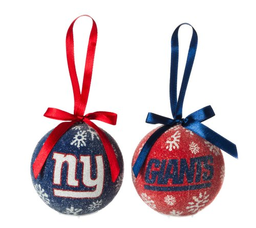 New York Giants Official MLB LED Box Set Ornaments by Evergreen Enterprises
