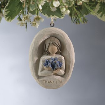 Thank You Plaque Ornament – 26159 by Willow Tree