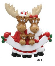 Moose Family Of 4 Ornament