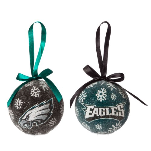 Philadelphia Eagles Official NFL LED Box Set Ornaments by Evergreen Enterprises