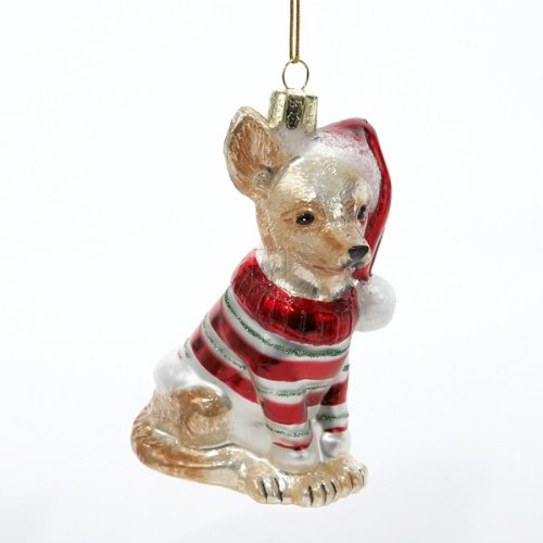 Kurt Adler 3-1/2-Inch Noble Gems Glass Chihuahua Ornament