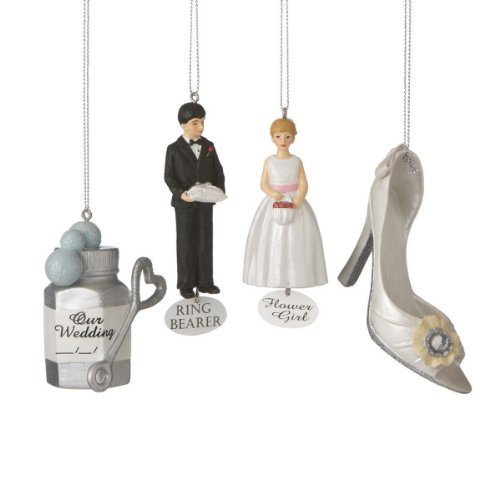 Midwest CBK Wedding Icon Set of 4 Ornaments #461747