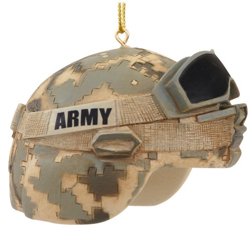 1 X Army Helmet Ornament by Kurt Adler