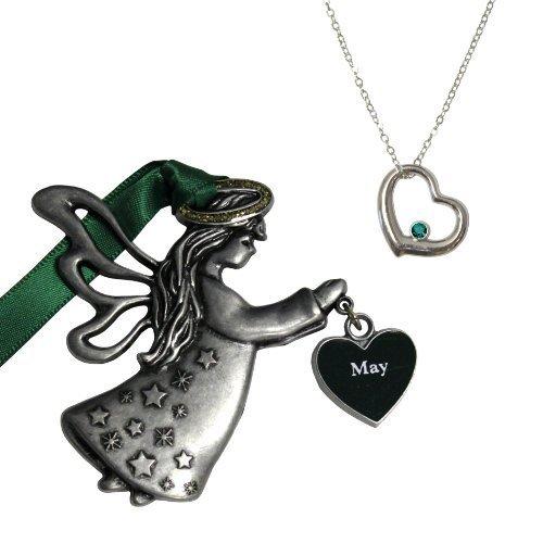 Gloria Duchin May Birthstone Angel Ornament Gift Set by Gloria Duchin