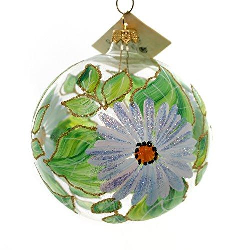Christina's World ROBINS EGG BLUE DAISIES Glass Ornament Ball Sun143