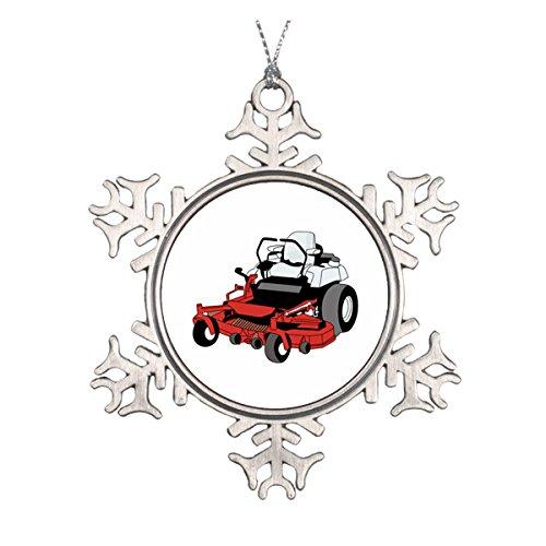 Lawnmower Ceramic Round Christmas Ornament