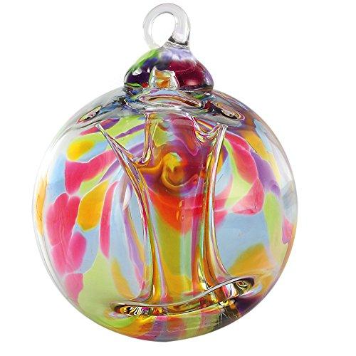 Glass Eye Studios Spirit Ball Rainbow Ornament