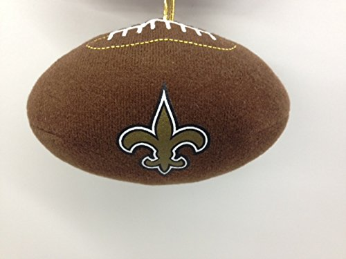 NFL New Orleans Saints Plush Football Ornament – 4″ x 2.5″