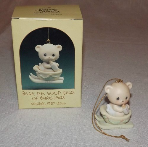 Precious Moments Ornament – Bear The Good News Of Christmas -1987