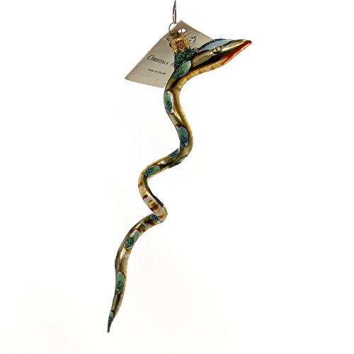 Christina's World SNAKE Glass Ornament Reptile Zoo874 Tan
