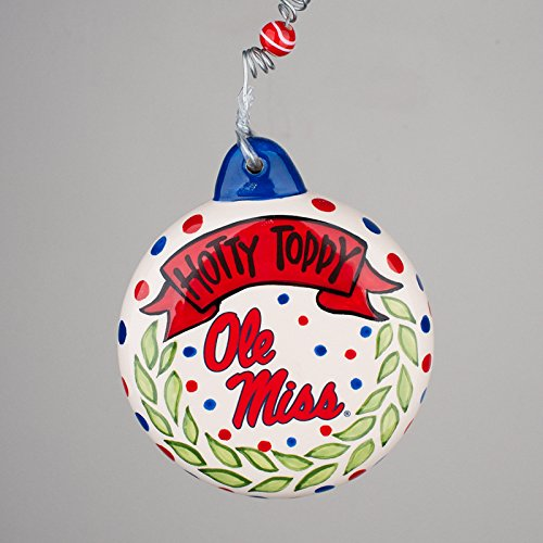 Collegiate Puff Ornament (Ole Miss)