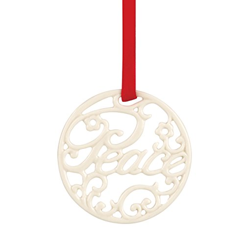 Lenox Peace Pierced Charm Ornament