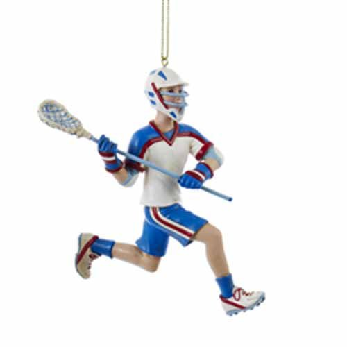 Kurt Adler Lacrosse Boy Ornament #C8593B