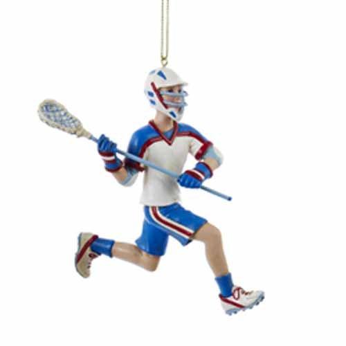 kurt adler lacrosse boy ornament  c8593b