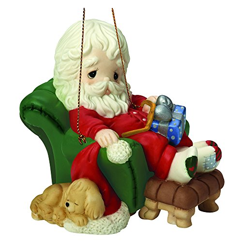 """Precious Moments, Christmas Gifts, """"And To All A GoodnNight"""", 8th in Annual Santa Series, Porcelain Ornament, #161031"""