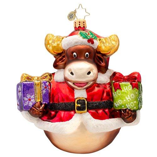 Christopher Radko Glass Murphy the Moose Christmas Ornament #1017399
