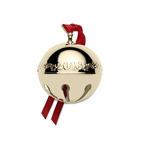 Wallace 2016 Gold Plated Sleigh Bell Ornament, 27th Edition